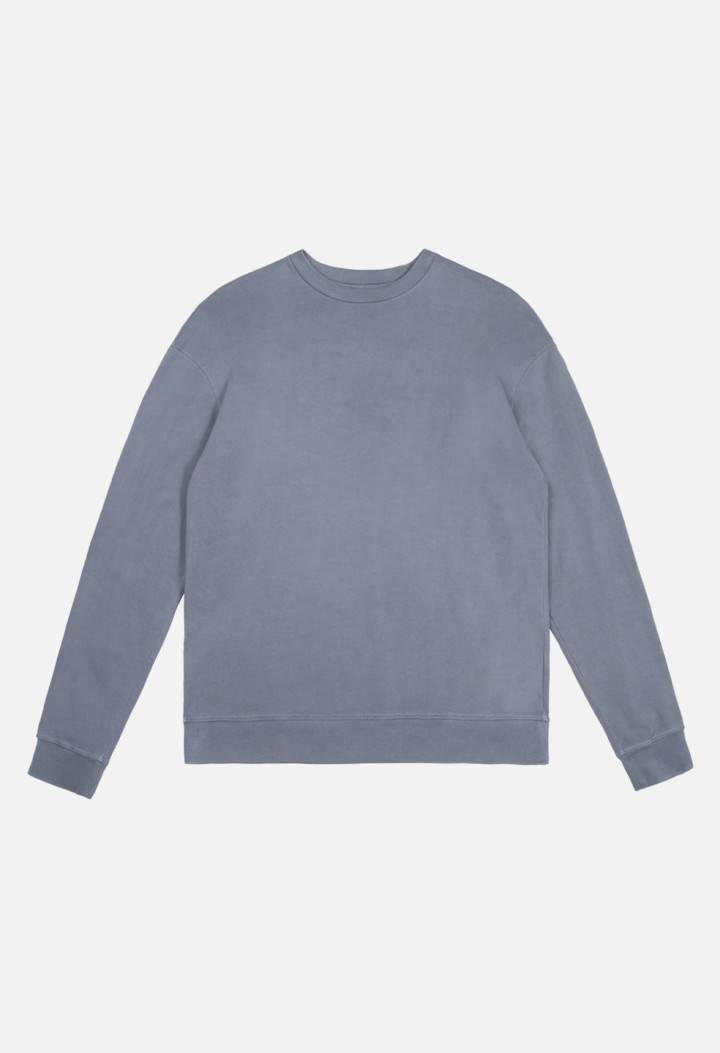Oversized-Crewneck-Pullover-Navy-Flat-Front