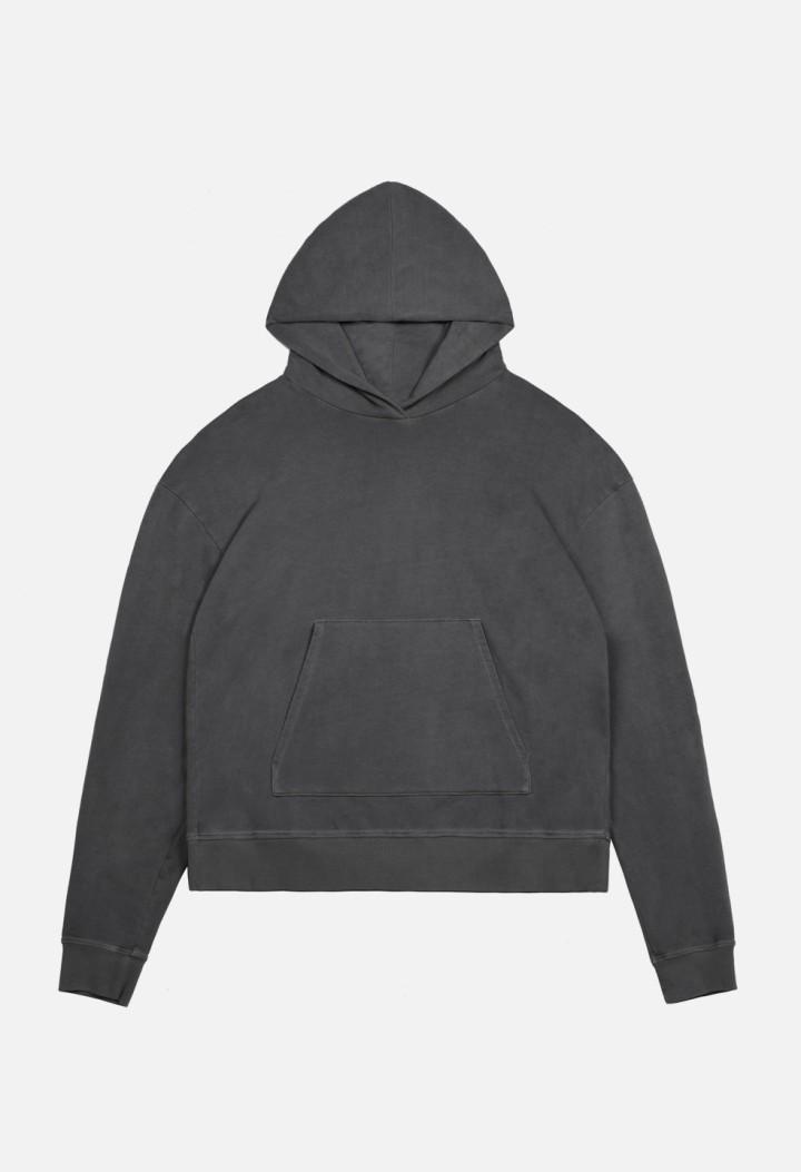 Oversized-Crop-Hoodie-Black-Flat-Front