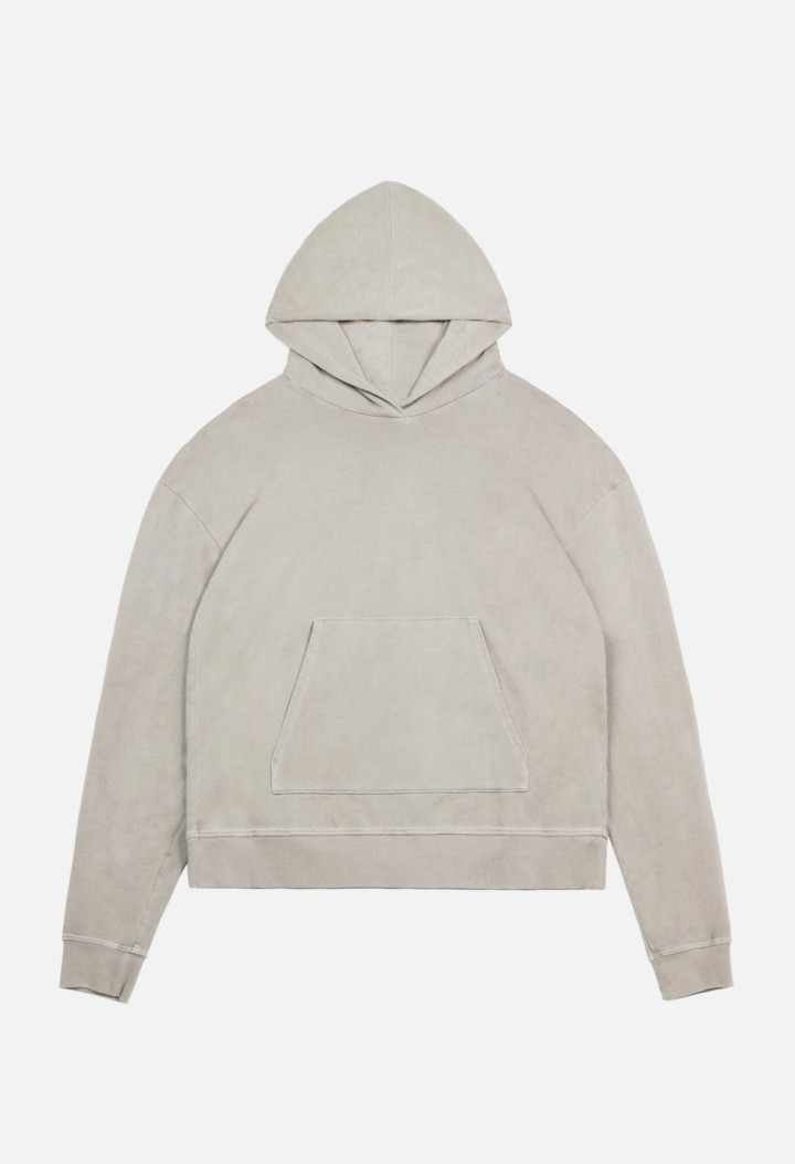 Oversized-Cropped-Hoodie-Clay-Flat-Front