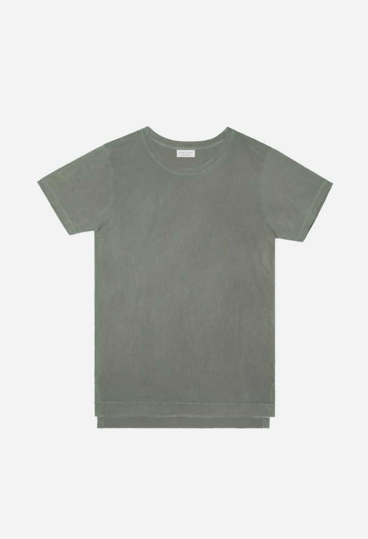 Washed-Mercer-Tee-Olive-Flat-Front